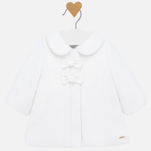 prechodný kabát MAYORAL biely