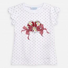 tričko MAYORAL biele-červené