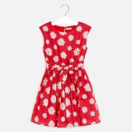 dievčenské šaty MAYORAL červené