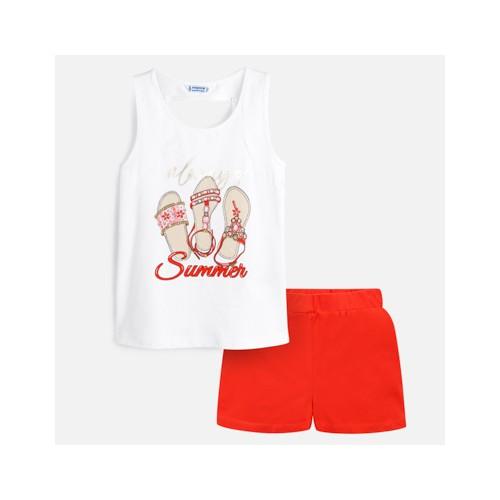 dievčenská súprava MAYORAL biela-červená